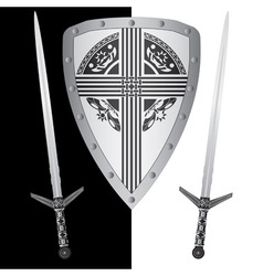 Fantasy shield and swordsfourth variant vector