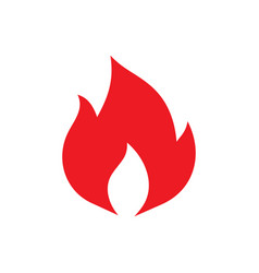 fire flame - red icon on white background vector image