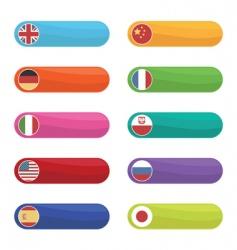 flag tabs vector image