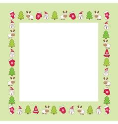 funny christmas frame vector image