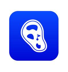 golf course field icon digital blue vector image