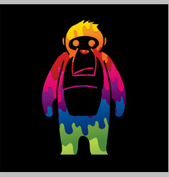 gorilla king kong graphic vector image