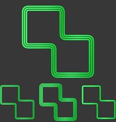 Green line corporate logo design set vector