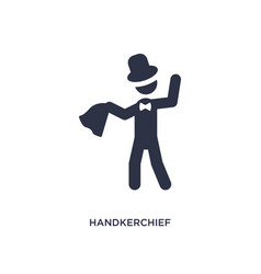 Handkerchief icon on white background simple vector
