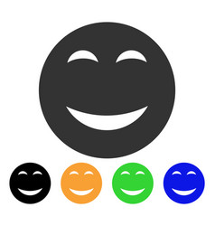 happy smiley icon vector image
