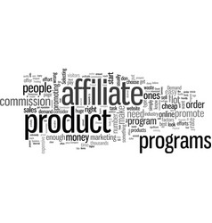 How to choose the best affiliate programs to vector