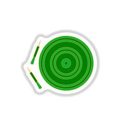 In paper sticker style dart vector