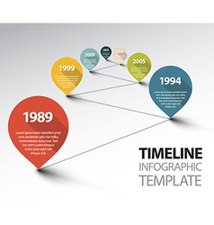 Infographic Timeline Template with pointers on a vector