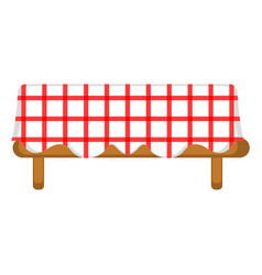 Isolated picnic table icon vector