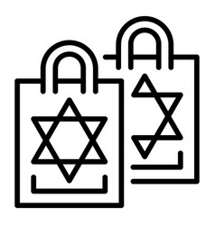 jewish pack icon outline style vector image
