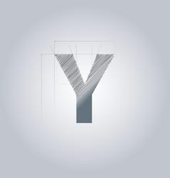 Letter y logo alphabet logotype architectural vector