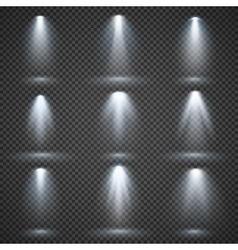 light sources concert lighting stage vector image