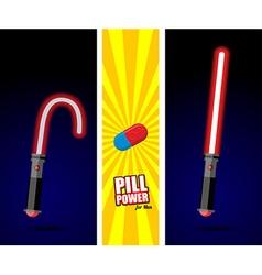 Lightsaber Pill power for men Slack sword light vector