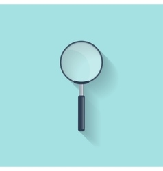 Magnifying Glassloupe in a flat style Zoom vector image
