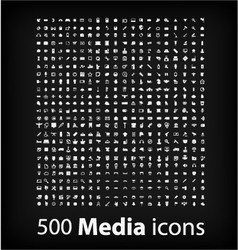 minimal styled icons for easter set 500 vector image