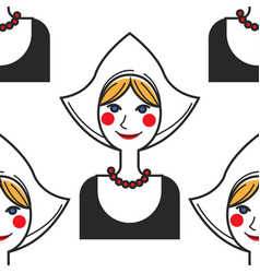netherlands symbol woman in national costume vector image