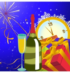 new year party background vector image