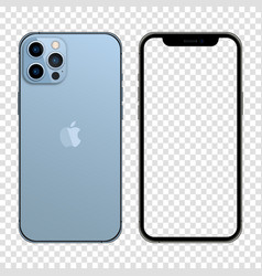 Newly released iphone 13 pro max sierra blue vector