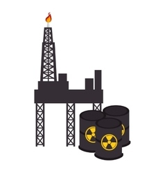 Nuclear energy isolated icon vector