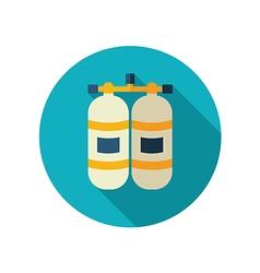 Oxygen tank flat icon Summer Vacation vector