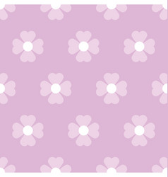 Pastel floral seamless pattern vector