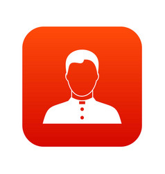 Pastor icon digital red vector