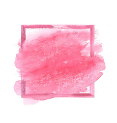 Pink watercolor grunge frame vector