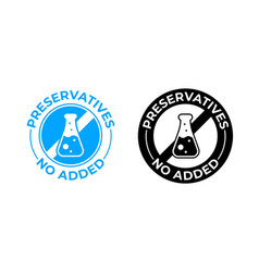 preservatives no added icon medically tested vector image