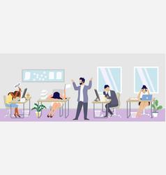 professional burnout syndrome concept flat vector image