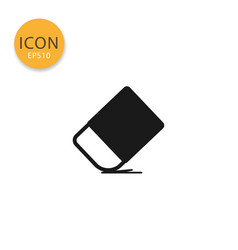 rubber eraser icon isolated flat style vector image