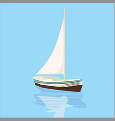 sailing boat yacht rest travel vector image