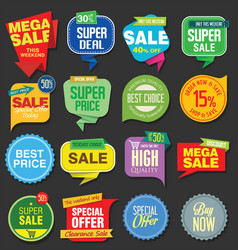 Sale stickers and tags colorful collection 5 vector