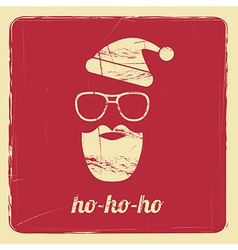 Santa retro poster vector
