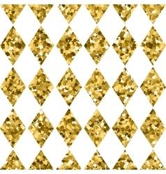 seamless pattern golden diamonds isolated on white vector image