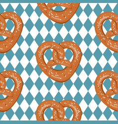 Seamless pattern with hand drawn pretzels vector