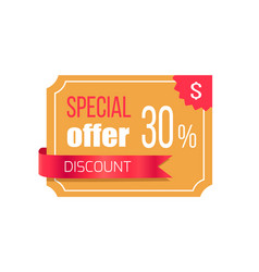 Special offer discount banner vector