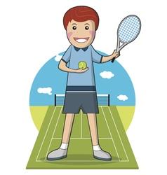 Sport Player Cartoon character Tennis Player vector image
