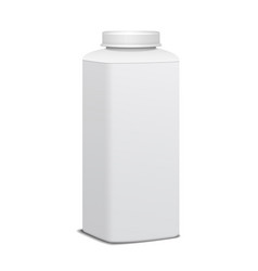 Square plastic bottle with screw cap for dairy vector