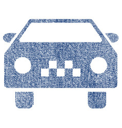 Taxi car fabric textured icon vector