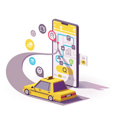 taxi mobile app vector image
