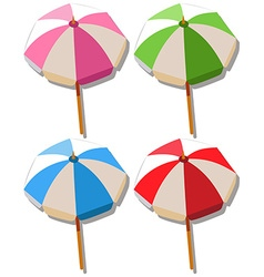 Umbrella in four colors vector