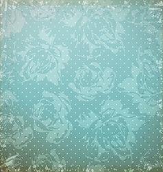 Vintage pattern with roses vector image
