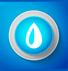 white drop icon isolated on blue background vector image