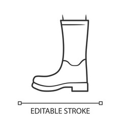 women wellies linear icon rubber boots for fall vector image