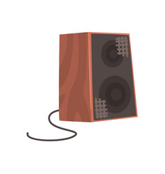 wooden audio speaker musical equipment cartoon vector image