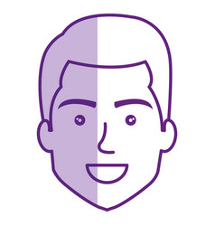young man head avatar vector image