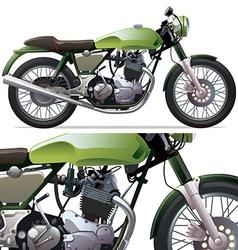 Classic Racing Motorcycle vector image