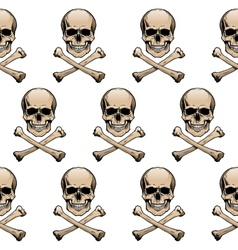 Colored skulls background vector image vector image