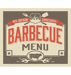 Genuine Southern Barbecue Menu Design vector image
