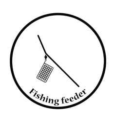Icon of fishing feeder net vector image